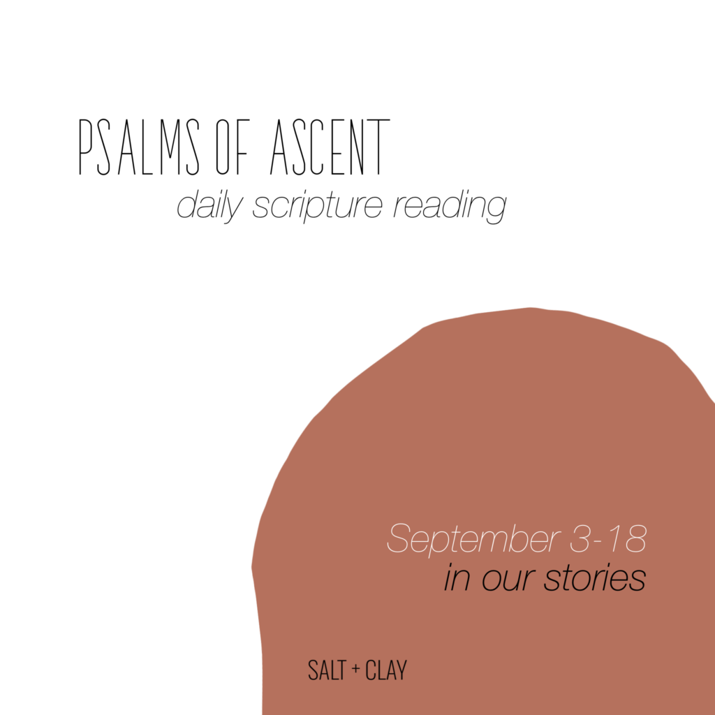 Psalms of Ascent Scripture Reading