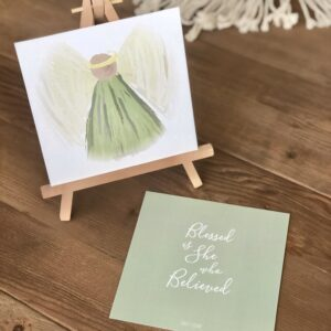 Advent Angel Verse Card