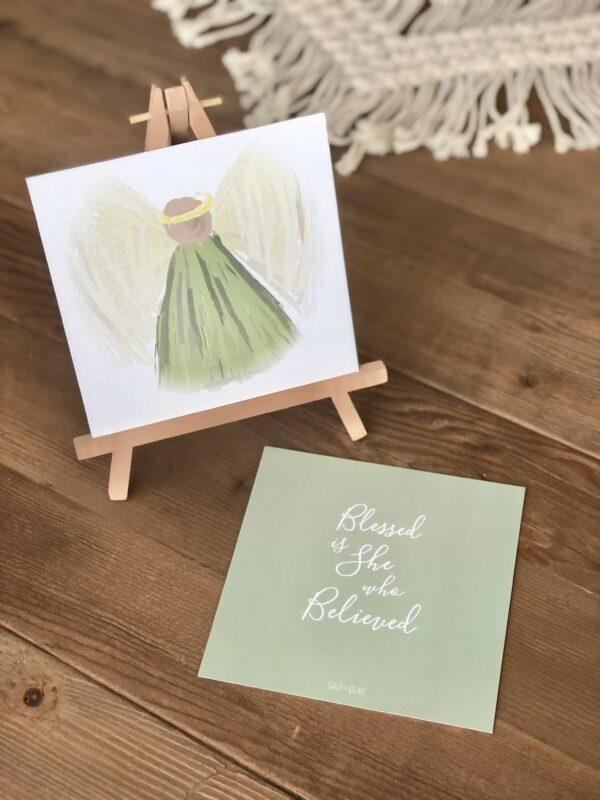Advent Angel Verse Card